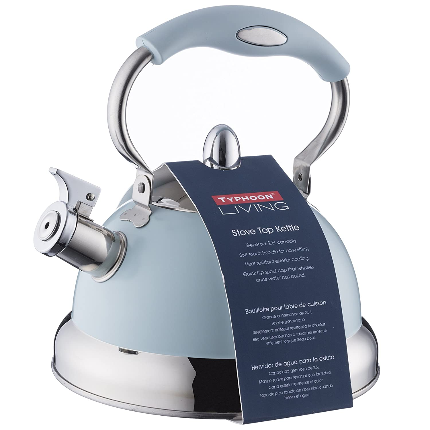 Typhoon Living Blue Stove Top Kettle 85Fl Oz