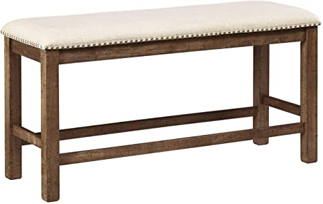 Stupendous Ashley Furniture Signature Design Moriville Counter Height Dining Room Bench Grayish Brown Ncnpc Chair Design For Home Ncnpcorg