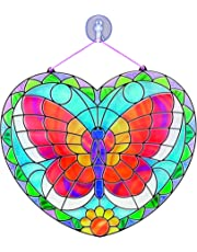 Melissa & Doug Stained Glass Made Easy Activity Kit, Arts and Crafts, Develops Problem Solving Skills, Butterfly, 140+ Stickers, 26.67 cm H x 25.4 cm W x 0.635 cm L