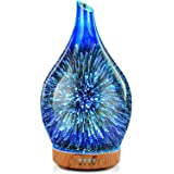 Essential Oil Diffuser 3D Glass Aromatherapy Ultrasonic Humidifier,Air Refresh Auto Shut-Off,Timer Setting,BPA Free for Home