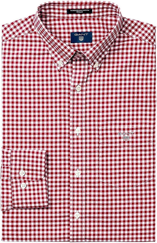 Camisa Gant The Original de tela a cuadros de ajuste regular ...