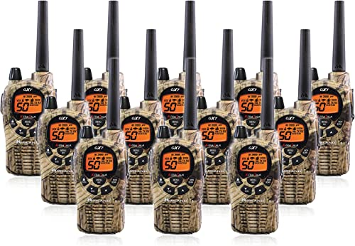 Midland GXT1050VP4 36-Mile JIS4 Waterproof 50-Channel FRS GMRS Two-Way Camo Radio 12 Pack