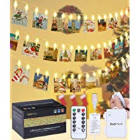 qoolivin recargable Powered Clip foto cadena luces 3