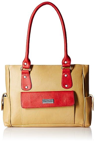 Fantosy Women s Handbag (Beige and Red) (FNB-291)  Amazon.in  Shoes    Handbags 5d4f11c22f