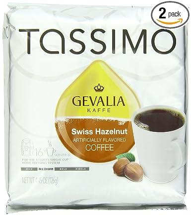 Tassimo gevalia Swiss Avellana Café, Medio, 16 ct T-Discs ...