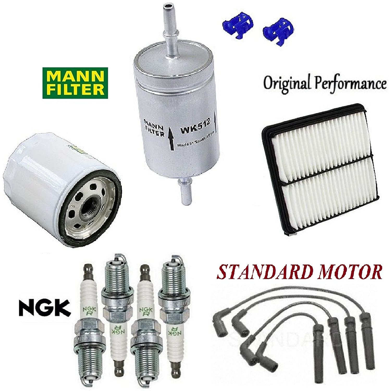 Tune Up Kit Air Oil Fuel Filters Plugs Wire For Daewoo Leganza Filter Location Lanos L4 16l 1999 2002 Automotive