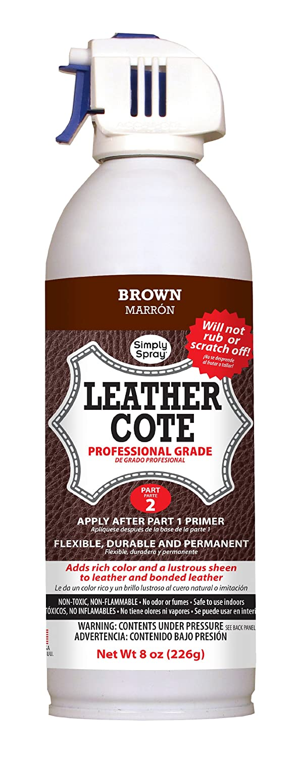 Simply Spray Leather Cote Permanent Leather Spray   Brown Part 2:  Amazon.co.uk: Kitchen U0026 Home
