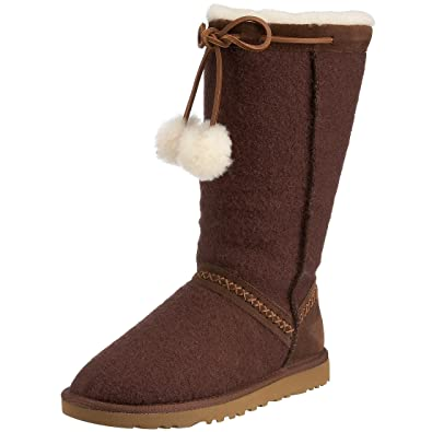 WOOL Classic TALL Chocolate Ugg Boots Uggs Size 10