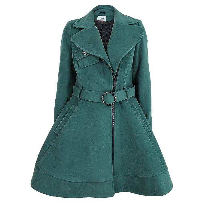 Amazon.com: unvc Womens elegante Lana Look Chaquetas/Abrigos ...