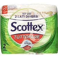 Scottex Tuttofare Due Lati Diversi, 4 Maxi Rotoli, 2 Confezioni da 2 Maxi Rotoli