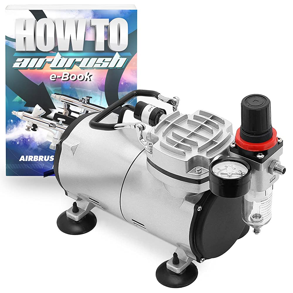 PointZero Portable Airbrush Air Compressor Tankless Oil-less 1/5 HP Review