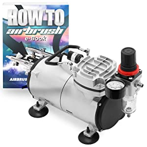 PointZero Portable Airbrush Air Compressor Tankless Oil-less 1/5 HP
