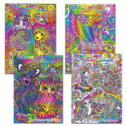 Lisa Frank Adult Coloring Book Set 4 Premium Lisa Frank Coloring And Activity Books For Adults
