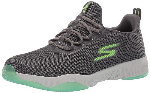 Skechers Men's GO Run TR-55192 Sneaker, Charcoal/Lime, 10 M US