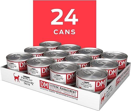 Purina Pro Plan Veterinary Diets DM Dietetic Management Feline Formula Wet Cat Food – 24 5.5 oz. Cans
