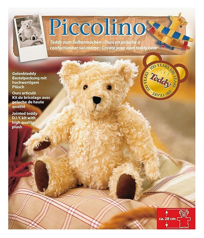 Glorex GmbH 0 4347 100 - Kuscheltier zum Nähen Teddy Piccolino, ca ...