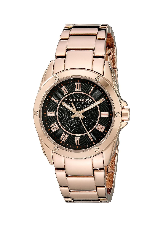 Vince Camuto Damen-Armbanduhr Analog Quarz Edelstahl VC-5230BKRG