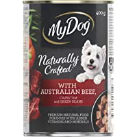 MY DOG Naturally Crafted Wet Dog Food Beef 400g Can, 24 Pack, Adult, Small/Medium