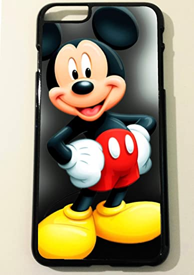 official photos 974d6 48c90 Iphone 6 Plus Mickey Mouse Black Hard Phone Case