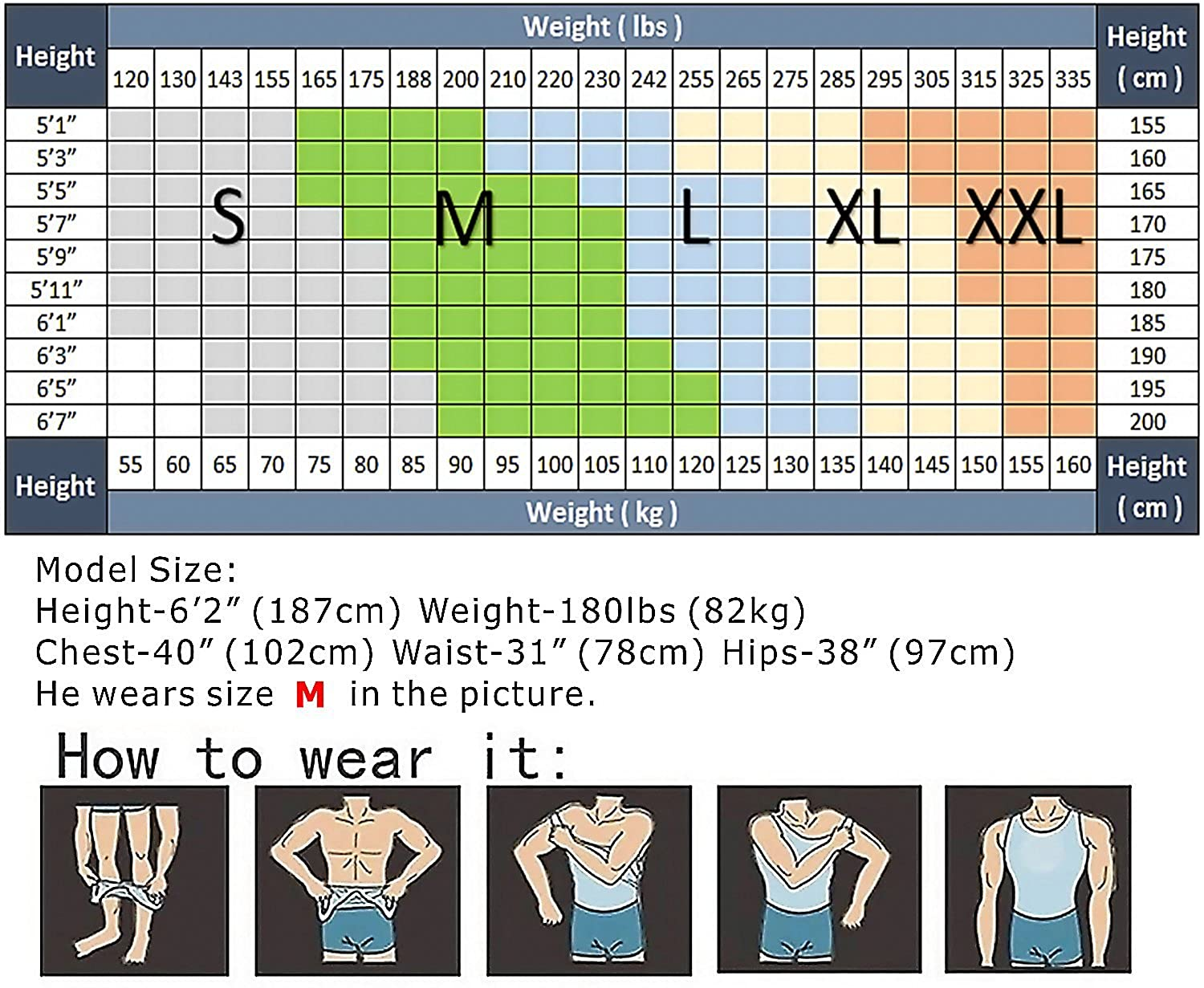 5bf660c58 Amazon.com  HANERDUN Mens Body Shaper Slimming Shirt Compression ...