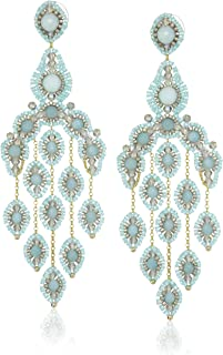 product image for Miguel Ases Gold-Filled Amazonite Cascading Drop Earrings