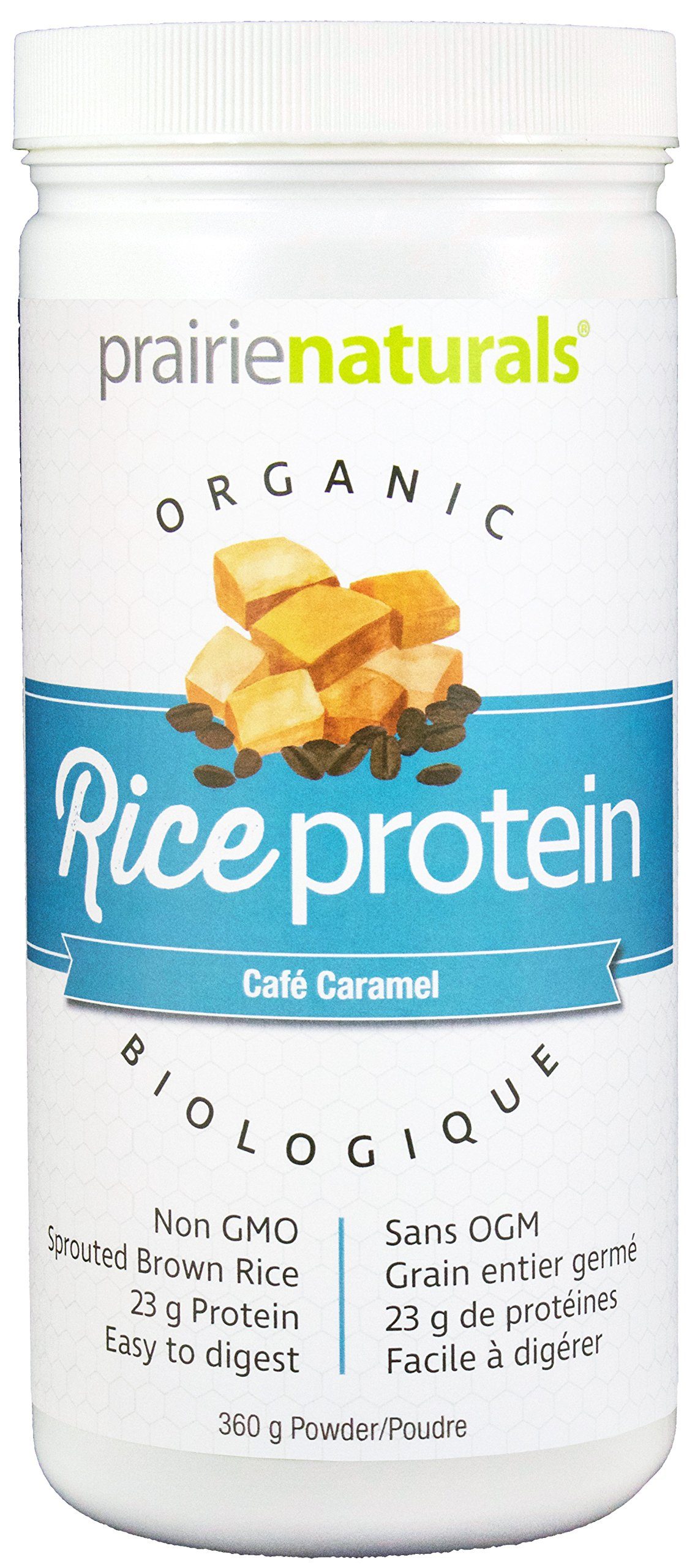 Prairie Naturals Organic Sprouted Brown Rice Protein Cafe Caramel, 12.7 Ounce