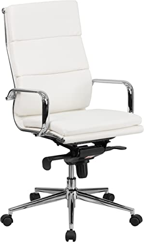 Flash Furniture High Back White LeatherSoft Executive Swivel Office Chair