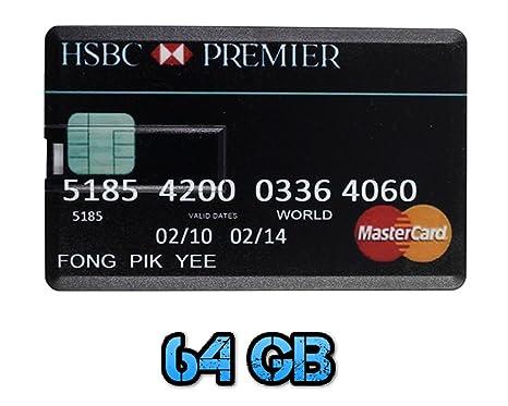 Carte Credit Hsbc Canada.Uk A2z Hsbc Mastercard 64gb Credit Card Style Usb Amazon Co Uk