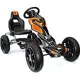 JOY 4KiDS #scout Kids pedal go kart, ride-on car, pedal go cart, eva tyres 5-12 yrs orange