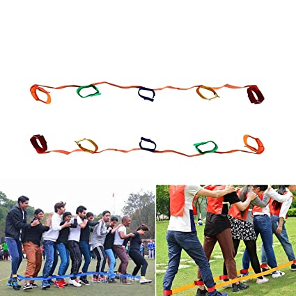 amazon com everydlife 5 legged race bands outdoor activities games