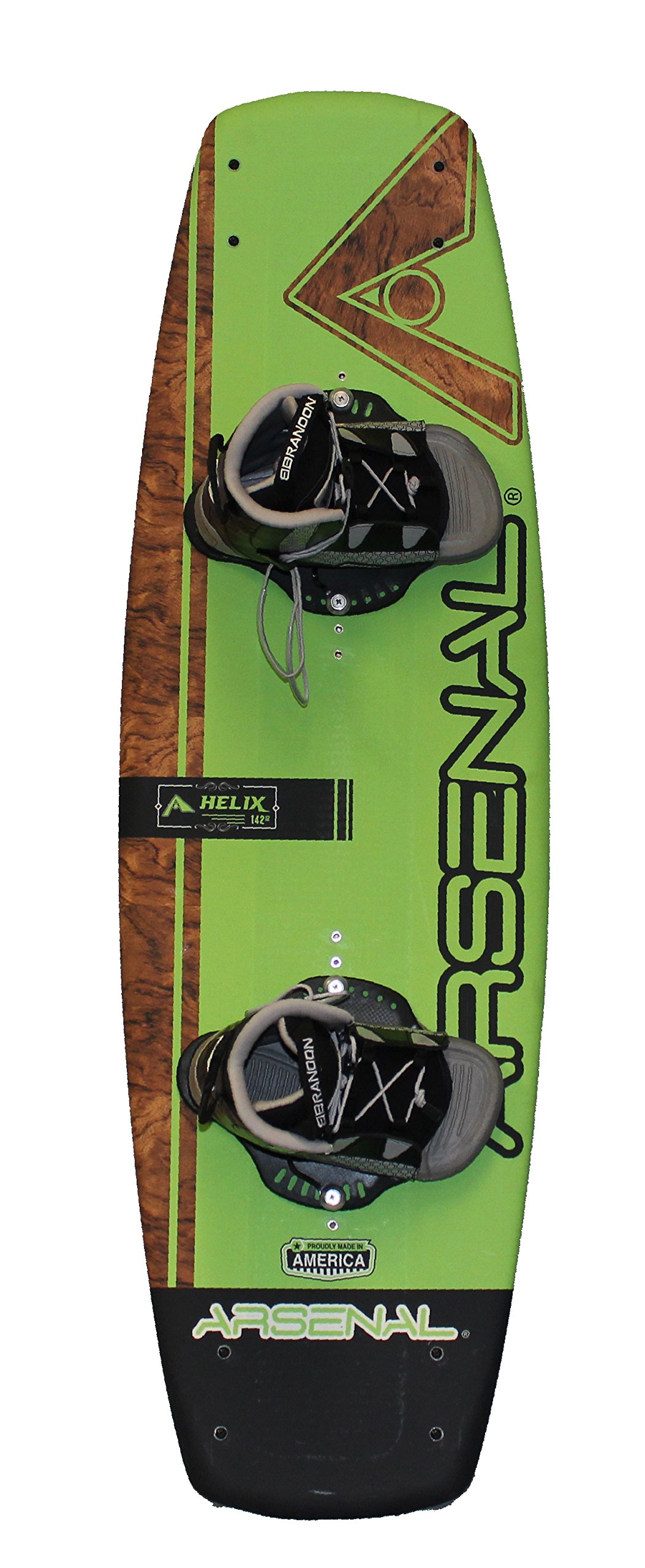 Hydroslide Arsenal Helix Wakeboard, Adult Universal,, Green