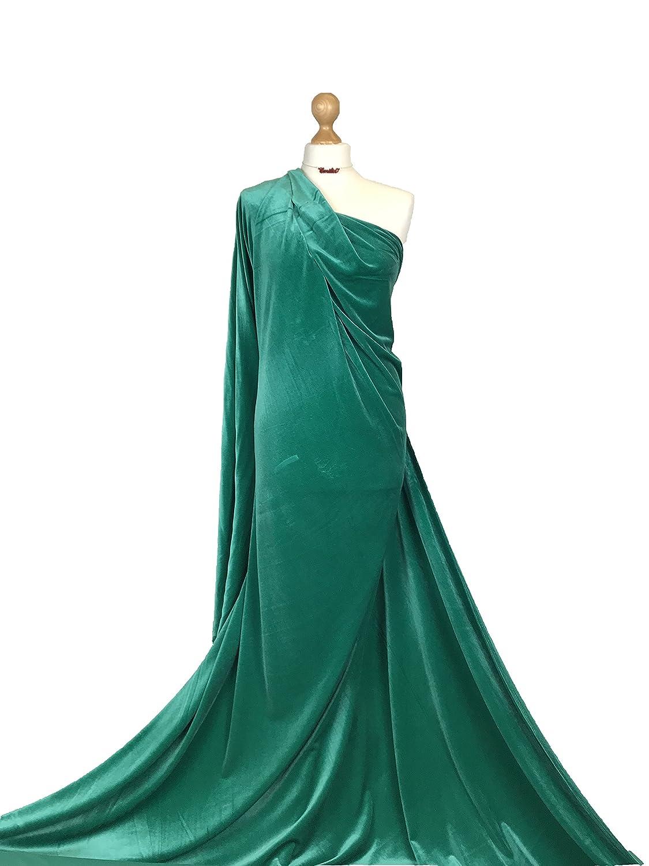 Qualità premium 4WAY Stretch spandex tessuto velour in velluto liscio materiale PV01, Emerald Green, 1 metro Fabriques