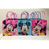 Disney Mickey and Minnie Mouse Party Favor Goodie Small Gift Bags 12