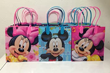 Image Unavailable Not Available For Color Disney Mickey And Minnie Mouse Party Favor Goodie Small Gift Bags 12
