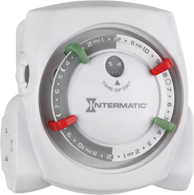 Electrical Intermatic TN212K 15-Amp Two-Outlet Heavy Duty Indoor ...