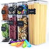 Airtight Food Storage Containers Set - Kitchen & Pantry Organization - BPA-Free - Plastic Canisters with Durable Lids Ideal f