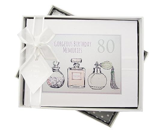 White Cotton Cards - Álbum de Fotos de 80º cumpleaños ...