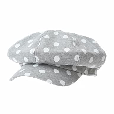 90ccdeb2eec WITHMOONS Newsboy Hat Beret Cap Dotted Polka Bakerboy Visor Hat KR3962  (Grey)  Amazon.co.uk  Clothing