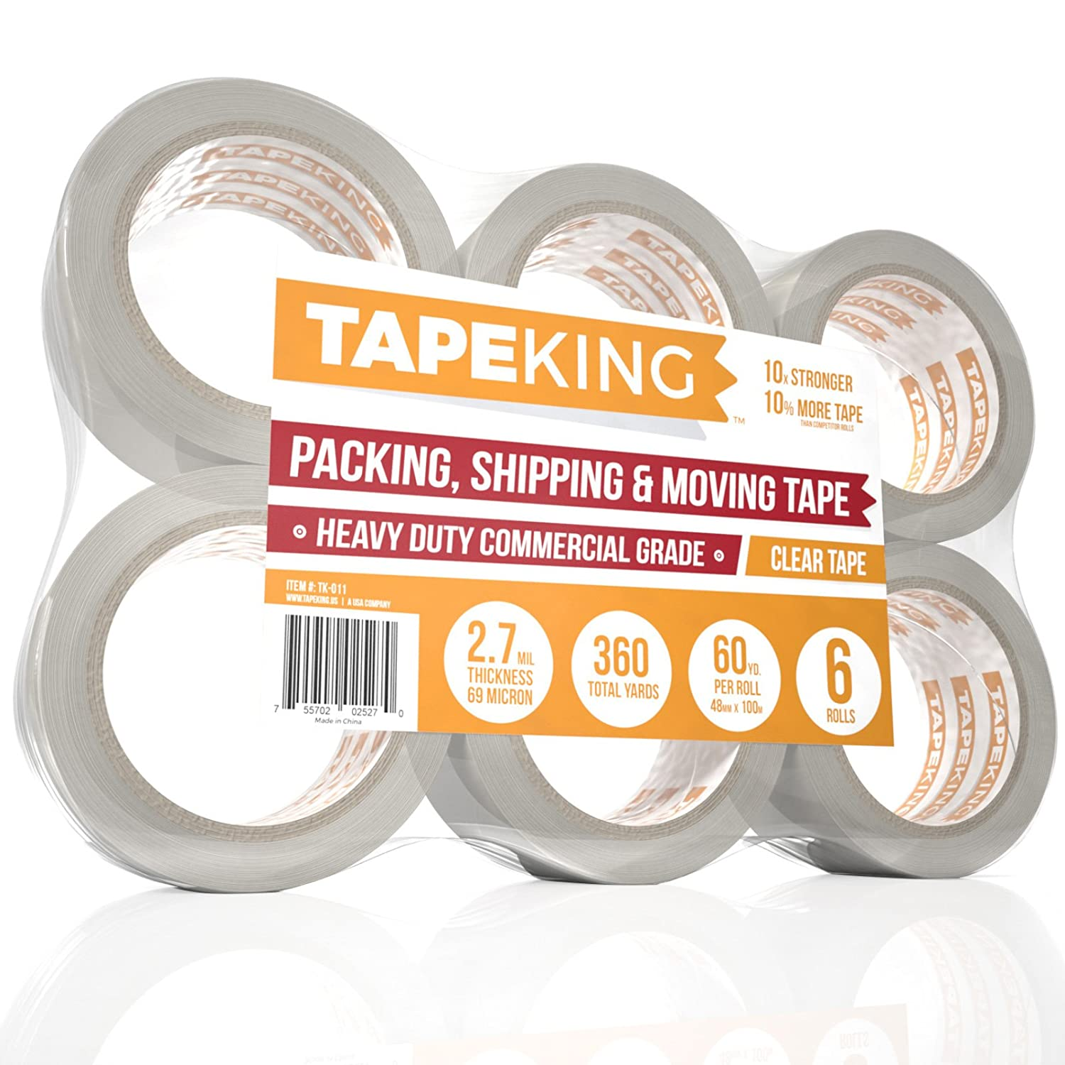 Tape King Clear Packing Tape
