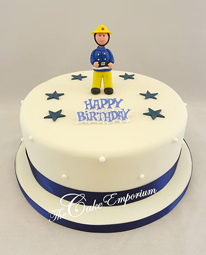 The Cake Emporium Ltd Fireman Ornament Sugar Stars Ribbon Happy