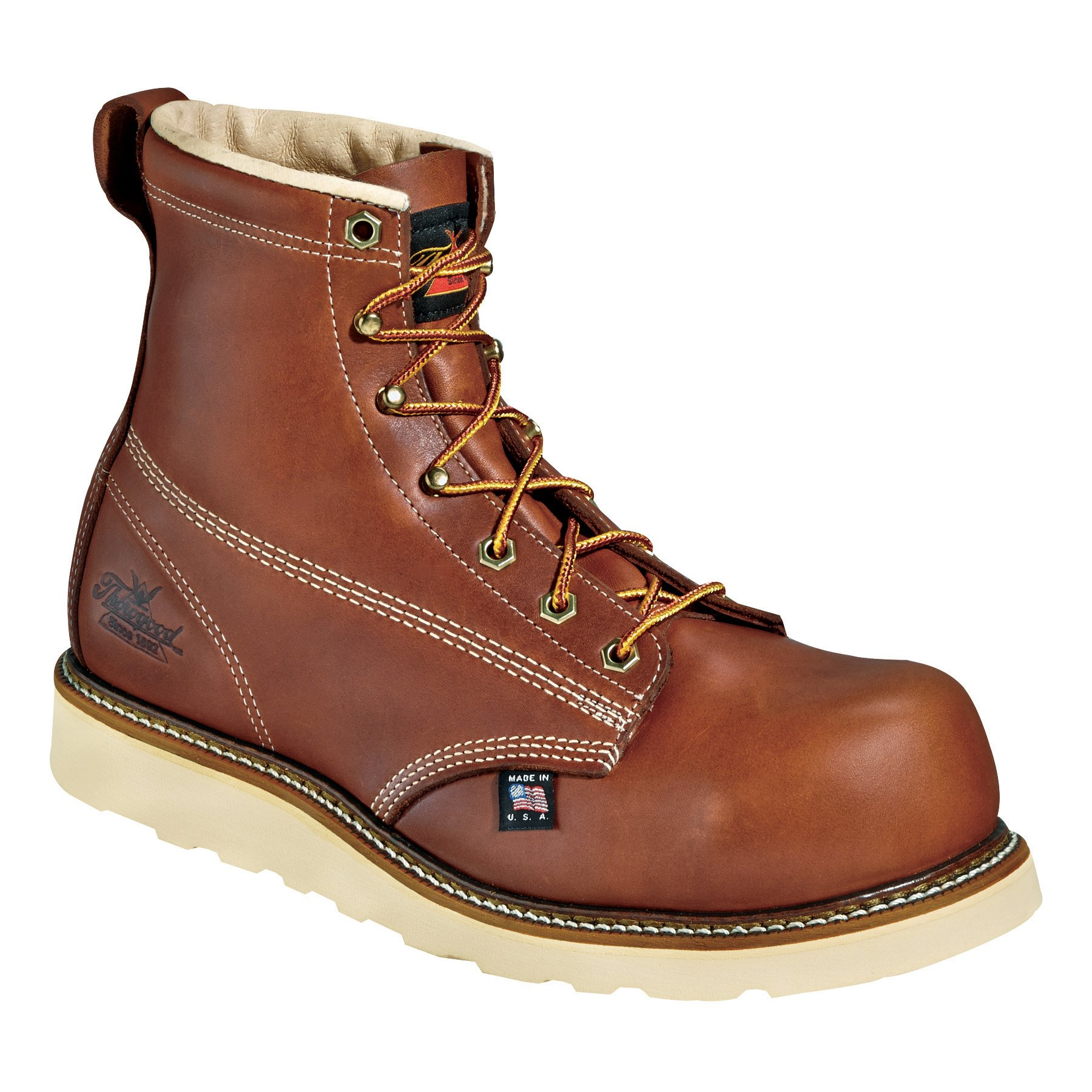 Thorogood Work Boots Mens Composite Toe Wedges 11.5 D Tobacco 804-4655