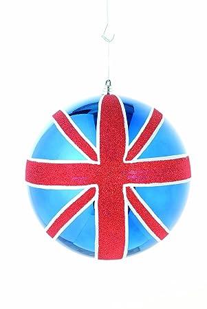 Amazon De Festive Productions Weihnachtskugeln Union Jack 30 Cm