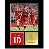 Philippe Coutinho Signed Mounted Display Liverpool