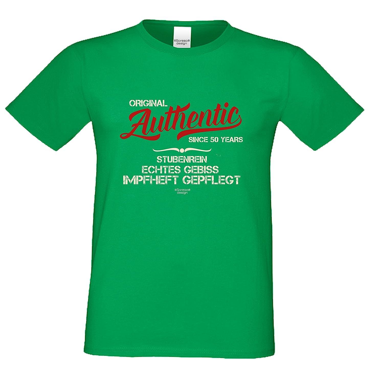 Herren-Geburtstag-Motiv-Fun-T-Shirt Original seit 50 Jahren Geschenk zum  50. Geburtstag oder Jubiläums-Weihnachts-Geschenk auch Übergrößen 3XL 4XL  5XL in ...
