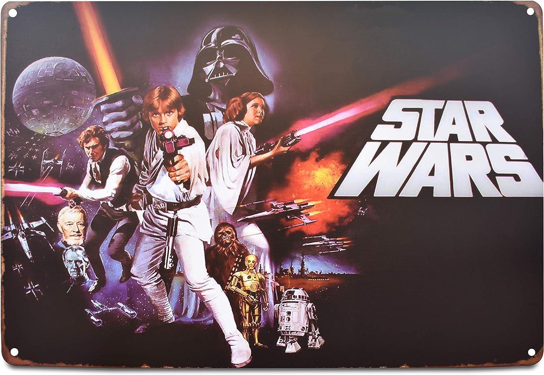 Star Wars Classic Memorabilia Distressed Antique Tin Metal Signs 12x8-inches (Star Wars)