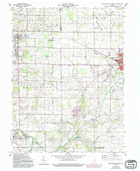 Hartford City Indiana Map.Amazon Com Yellowmaps Hartford City West In Topo Map 1 24000 Scale