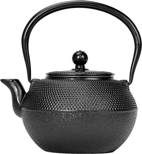 Primula Pci-7440 Black Hammered Japanese Tetsubin Cast Iron Teapot