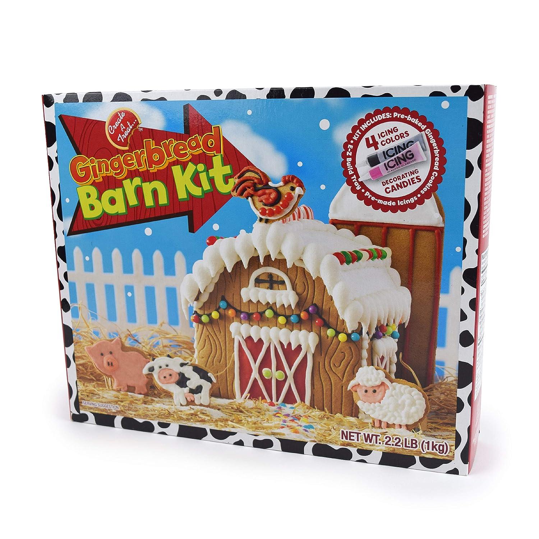 Amazon Com No Bake Gingerbread House Kit Christmas Barn With