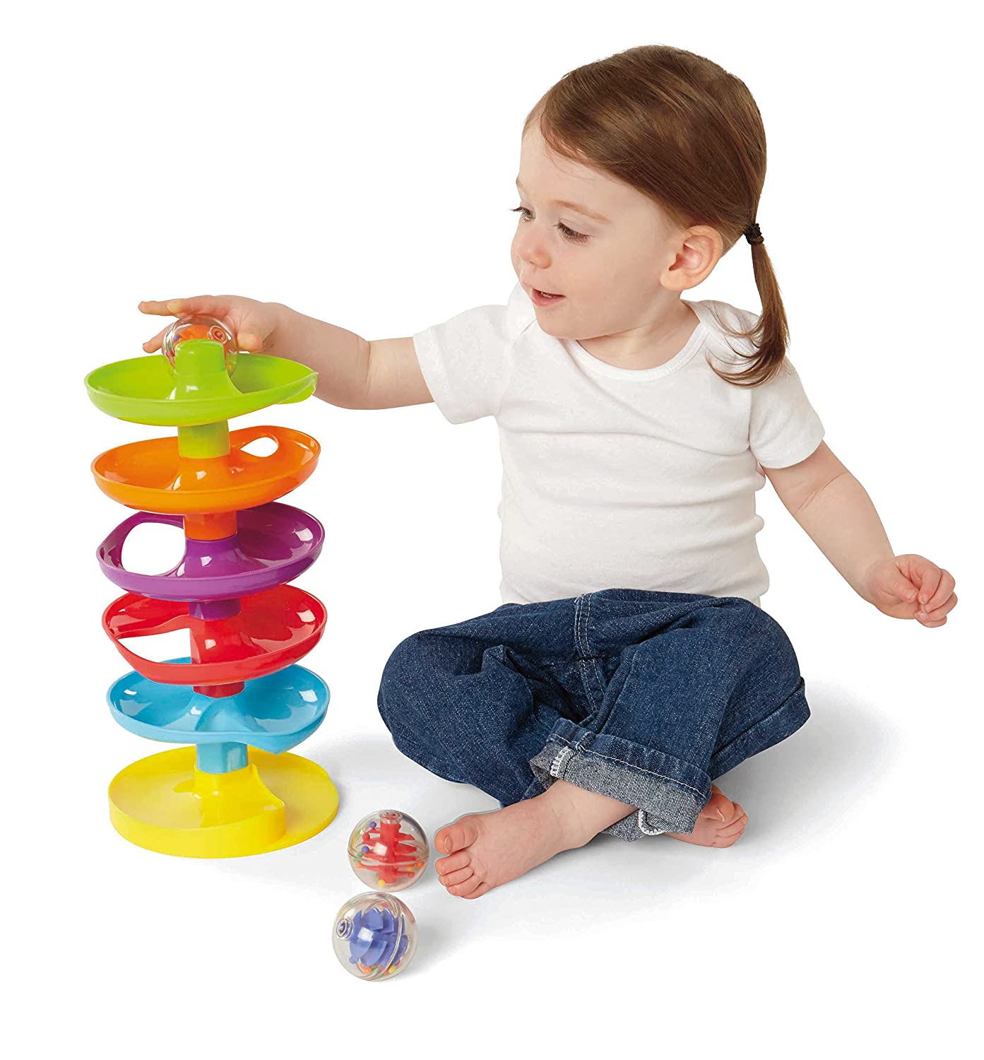 Amazon Earlyears Whirl n Go Ball Tower Toys & Games
