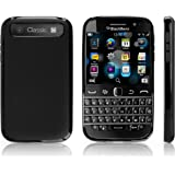 BlackBerry Classic Case, BoxWave® [Blackout Case] Durable, Slim Fit, Black TPU Cover for BlackBerry Classic